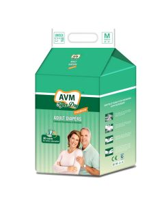 Premium Adult Diapers (10 Pieces) - AVM Super Dry