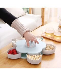Rotating Dry Fruit Serving Tray with 5 Compartments