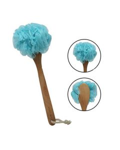Loofah Bath Brush with Wooden Handle - Sacred Salts