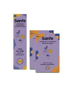 Intimate Hygiene Duo - 3 in 1 Intimate Wash (100 ml) and Intimate Wipes (Pack of 20) - Sanfe
