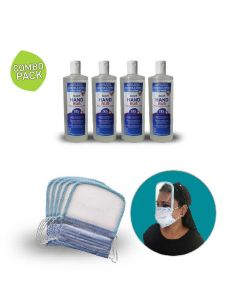 Sanitizer with 3 Ply Shield Mask - Deemark