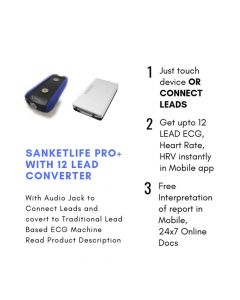 SanketLife Pro Plus Wireless ECG Device With SwitchSy Converter Preloaded With 150 ECG Test - Agatsa