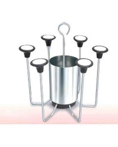 Stainless Steel Fancy Glass and Cutlery Stand