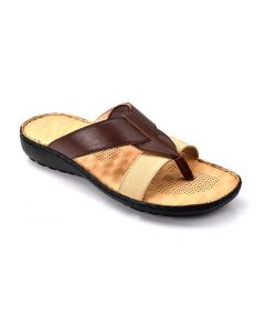 Women's Sandal With Extra Cushioned Heel in Brown/Black - Trussfeet