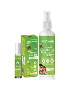 Combo of Moquito Repellent Spray (100ml) + Mosquito Roll On (10ml) - BodyGuard