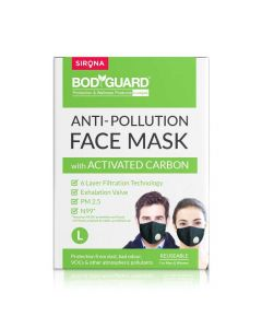 6 Layer Protection Activated Carbon, N99 + PM2.5 Face Mask (Large) - Bodyguard