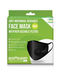 PM2.7 + N95 Reusable Pollution Face Mask (1 Pack) -  BodyGuard