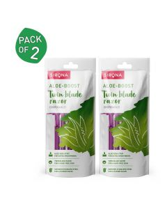 Disposable Shaving Razor for Women with Aloe Boost 5 Units (Pack of 2) - Sirona