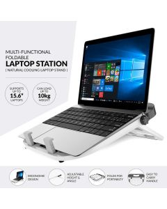 Folding Portable Laptop Stand (White) - Gizga Essentials