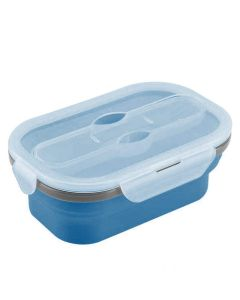 Collapsible Dry Snacks Container (Blue) - Home Basics