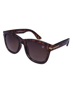 UV Protected Wayfarer MirroredSunglasses For Men Tortoise Brown - Tom Martin
