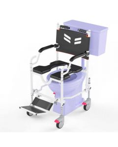 Assistant Propelled Shower and Commode Wheelchair - Frido