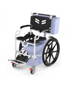 Self Propelled Shower and Commode Wheelchair - Frido