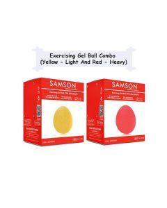 Exercising Gel Ball Combo (Yellow - Light And Red - Heavy) - Samson