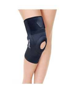 Hinged Knee Cap With Open Patella Gel Pad (Black) - Samson