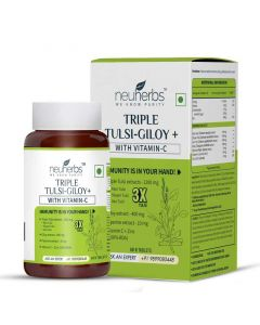 Triple Tulsi and Giloy Plus Tablets (60 Tablets) - Neuherbs