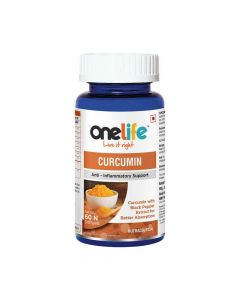 Curcumin for Anti - Inflammatory Support (60 Non Veg - Soft gels) - Onelife