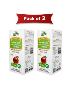 Sweet-Stevia Apple Cider Vinegar (200 ml | Pack Of 2) - Dr Patkar