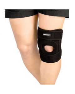 Open Patella Knee Support with Stays (Black) - Orthotech