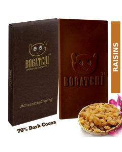 3-in-1 Combo 70 Percent Dark Cocoa Chocolate (Rasins-Cranberry-Almonds) - Bogatchi