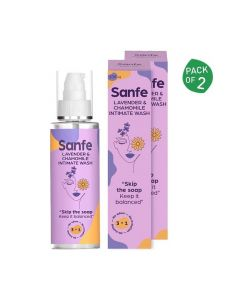 3 in 1 Intimate Wash (Pack of 2 - 100 ml Each) - Sanfe