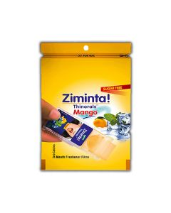 Sugar Free Mango Flavoured Mouth Freshener (30 Strips) - Ziminta