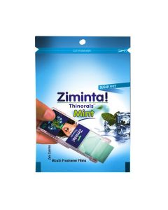Sugar Free Mint Flavoured Mouth Freshener (30 Strips) - Ziminta