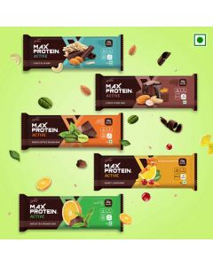 Protein Bars Assorted (Pack of 8) - Ritebite Max Protein