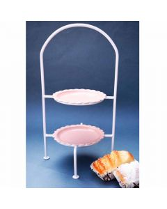 Pink Cake cum Biscuit Stand - Color Palette