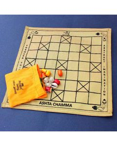 Ludo Board Game (Crafted in Raw Silk) - Ancient Living