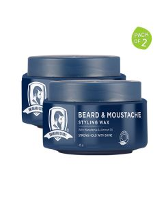 Beard and Moustache Styling Wax for Men (Pack of 2 - 45 gm each) - The Beard Story