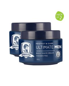 Protect & Care Hair Cream for Men (Pack of 2 - 100 gm each) - The Beard Story