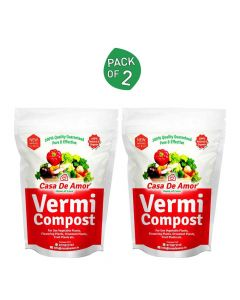Organic and Pure Vermicompost (2 Pack of 900 gm) - Casa De Amor
