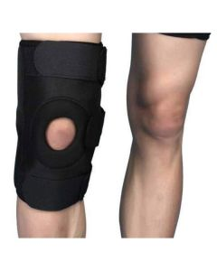 Functional Knee Support Open Patella Hinge Brace (Black) - Witzion
