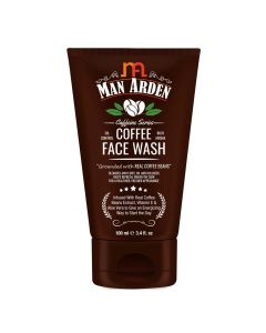 Recharge Coffee Face Wash 100 ml - Cleanses Away Dirt- Oil and Dullness - Man Arden