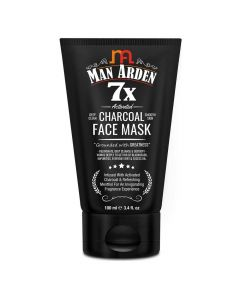 7X Activated Charcoal Face Mask 100 ml - Man Arden