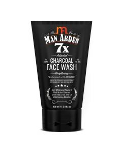 7X Activated Charcoal Brightening Face Wash (100 ml) - Man Arden