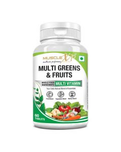 Multi Greens and Fruits Multivitamin (60 Tablets) - MuscleXP