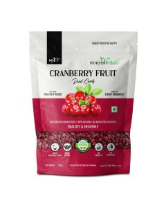 Cranberry Dried Fruit - Dehydrated Fruits (200 gm) - Nourish Vitals