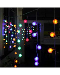 138 LED Curtain String Lights with 8 Flashing Modes - House of Quirk
