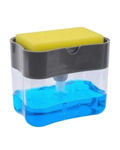 2-in-1 Sponge Box with Soap Dispenser and Scrubber Holder - House of Quirk