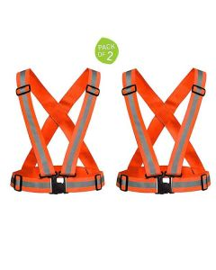 Reflective Vest for Outdoors and Biking (Pack of 2) - LifeKrafts