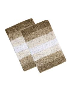 Cotton Regular Ultra Soft Stripes Bathmat 40 x 60 cm (2 Pieces) - The Home Talk