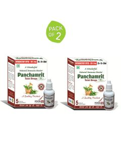 Panchamrit Tulsi Drops - A Natural Immune Booster (2 x 30 ml) - Food ARC
