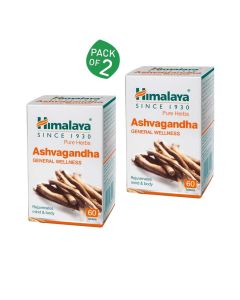 Ashvagandha For General Wellness (Pack of 2 -  60 tablets each) - Himalaya
