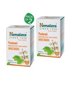 Tulasi For Respiratory Wellness (Pack of 2 - 60 tablets each) - Himalaya
