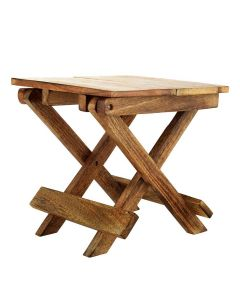 Portable Folding Wooden Stool - Woodenclave