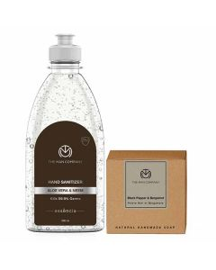Hand In Hand Combo (Sanitizer And Soap) - The Man Company