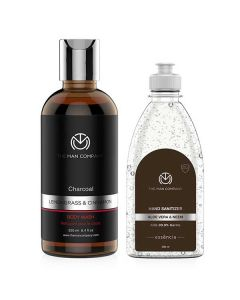 Body Work Combo (Sanitizer And Body Wash) - The Man Company