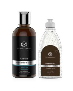 Hair For You Combo (Sanitizer And Shampoo) - The Man Company